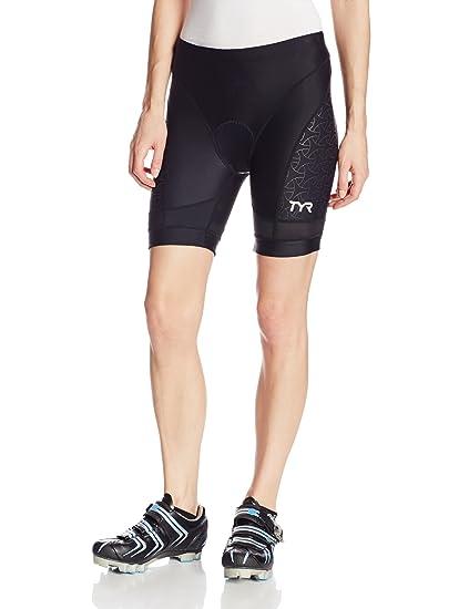 TYR Sport Women s Sport Competitor 6-Inch Tri Compression Shorts (Black 2ed28bfcba