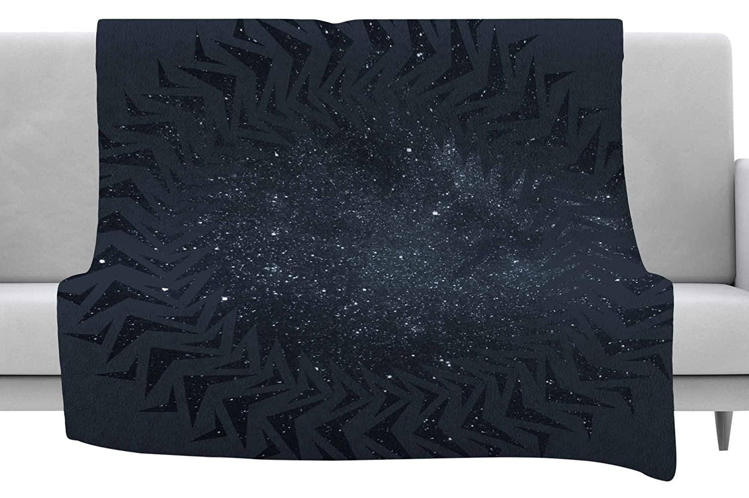 40 x 30 Fleece Blanket Kess InHouse Matt Eklund Lunar Chaos Blue Celestial Throw