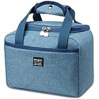 Lunch Bag Bolsa de Almuerzo, IFORU Bolsa del Almuerzo Caliente Térmica Almuerzo Refrigeración Aislamiento Bolsa de Enfriamiento de Portátil Alimentos Fugas Isotérmica Bolso para Picnics/Fiestas/Camping/Niños/Hombres/Mujer