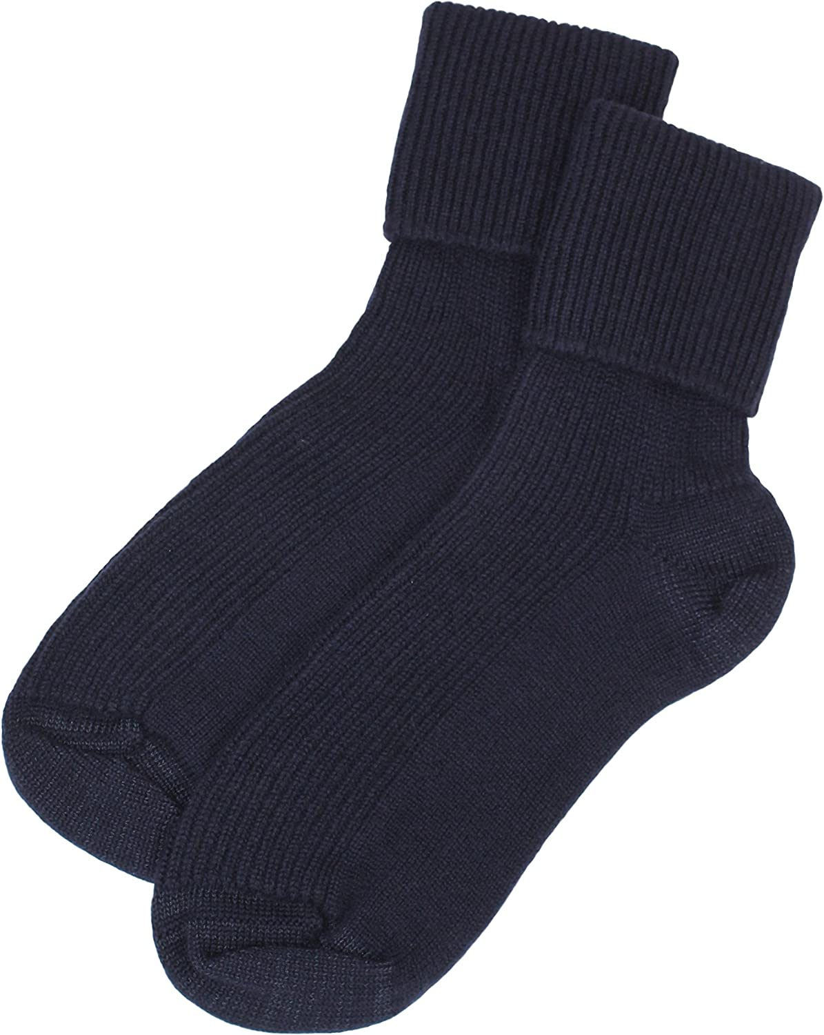 Blue Grey Black Jasmine Silk Scottish Ladies Cashmere Socks Ivory