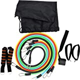 11Pcs/Set Resistance Bands Workout Exercise Training Tube Pull Rope Rubber Expander Elastic Bands