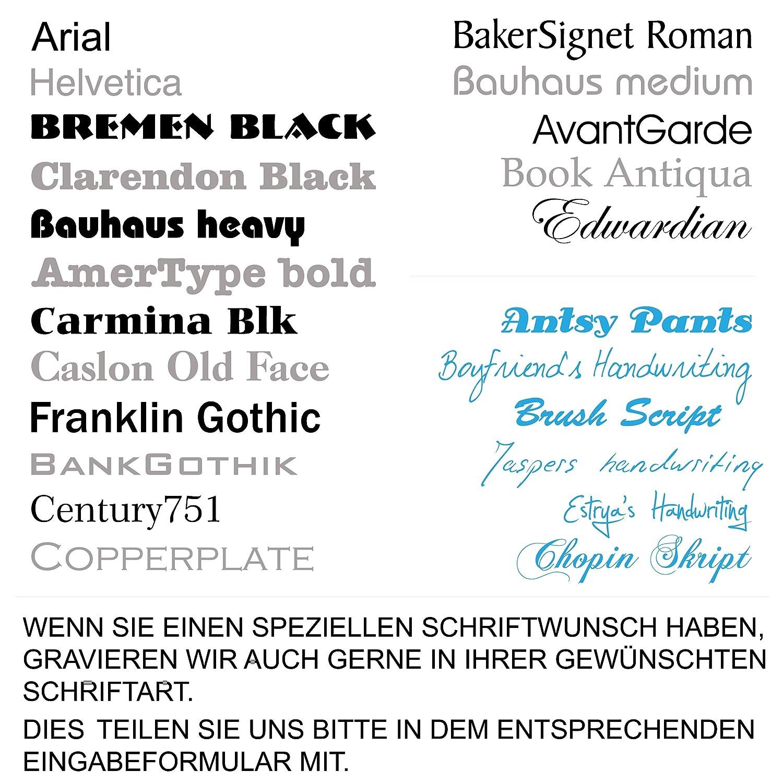 blau Modell 06 bis 100mm breit Edelstahl//Gravur LAVICOM Klingelschild Briefkastenschild T/ürschild Haust/ürschild Pokalschild