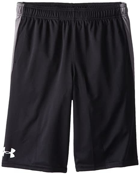63c306211 Under Armour Boy's Eliminator Shorts, Black /Graphite, Youth X-Small
