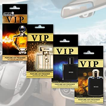Caribi Vip Air Freshener Luxury Perfume For Your Car Pack Of 4