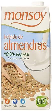 Monsoy - Bebida Ecológica de Almendras - Caja de 4 x 1L
