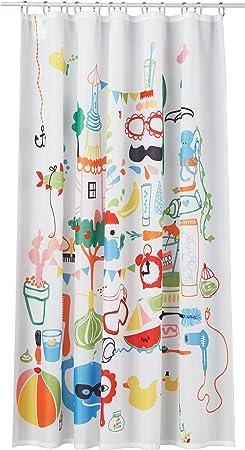Ikea Badback Rideau De Douche Multicolor Amazon Fr