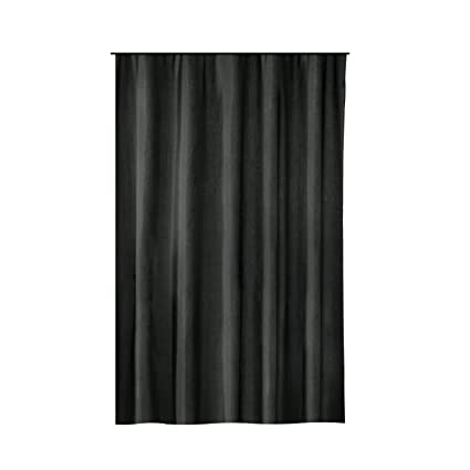 c5921698d1ff3 Amazon.com: Extra Long Shower Curtain 72 x 78 Inch Gamma Black ...