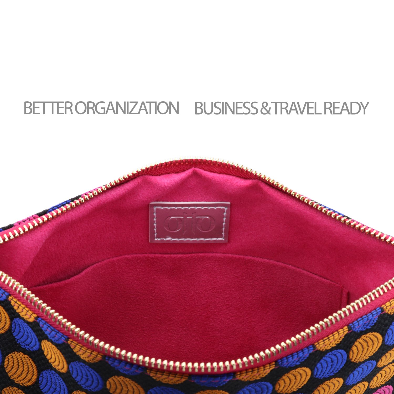 Otto Designer Women's Bohemian Clutch Purse - Multiple Slots Money, Cards, Smartphone - Ultra Slim (Dots) by OTTO Leather (Image #4)