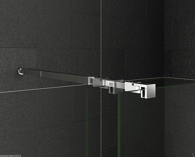 73-120cm aleación de zinc sin marco puerta fijo mampara de ducha ...