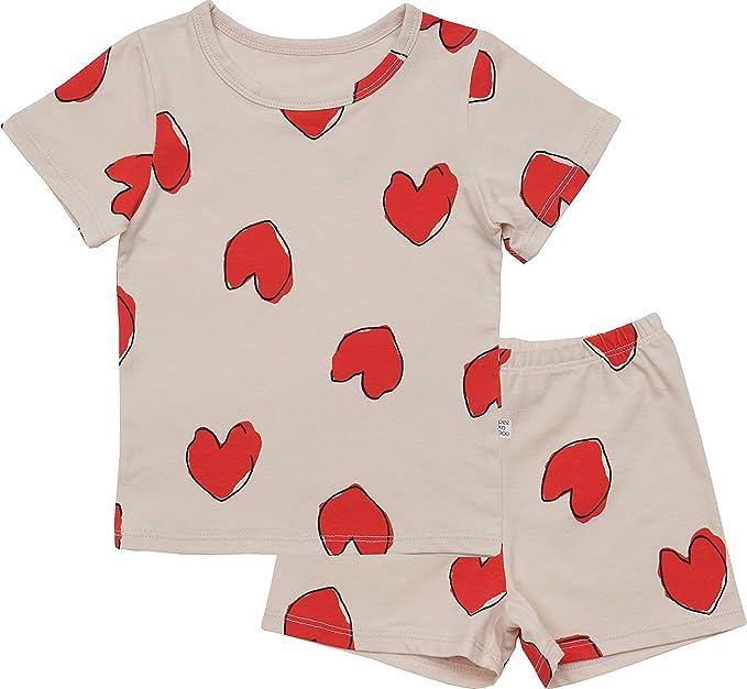 Amazon.com: AVAUMA - Pijama de manga corta acanalado para ...
