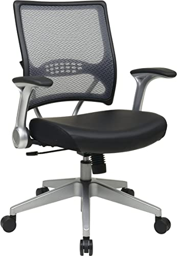 SPACE Seating AirGrid Light Back and Padded Black Eco Leather Seat