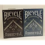 Bicycle Robocycle Playing Cards 2 Deck Set 1 Blue & 1 Black Deck