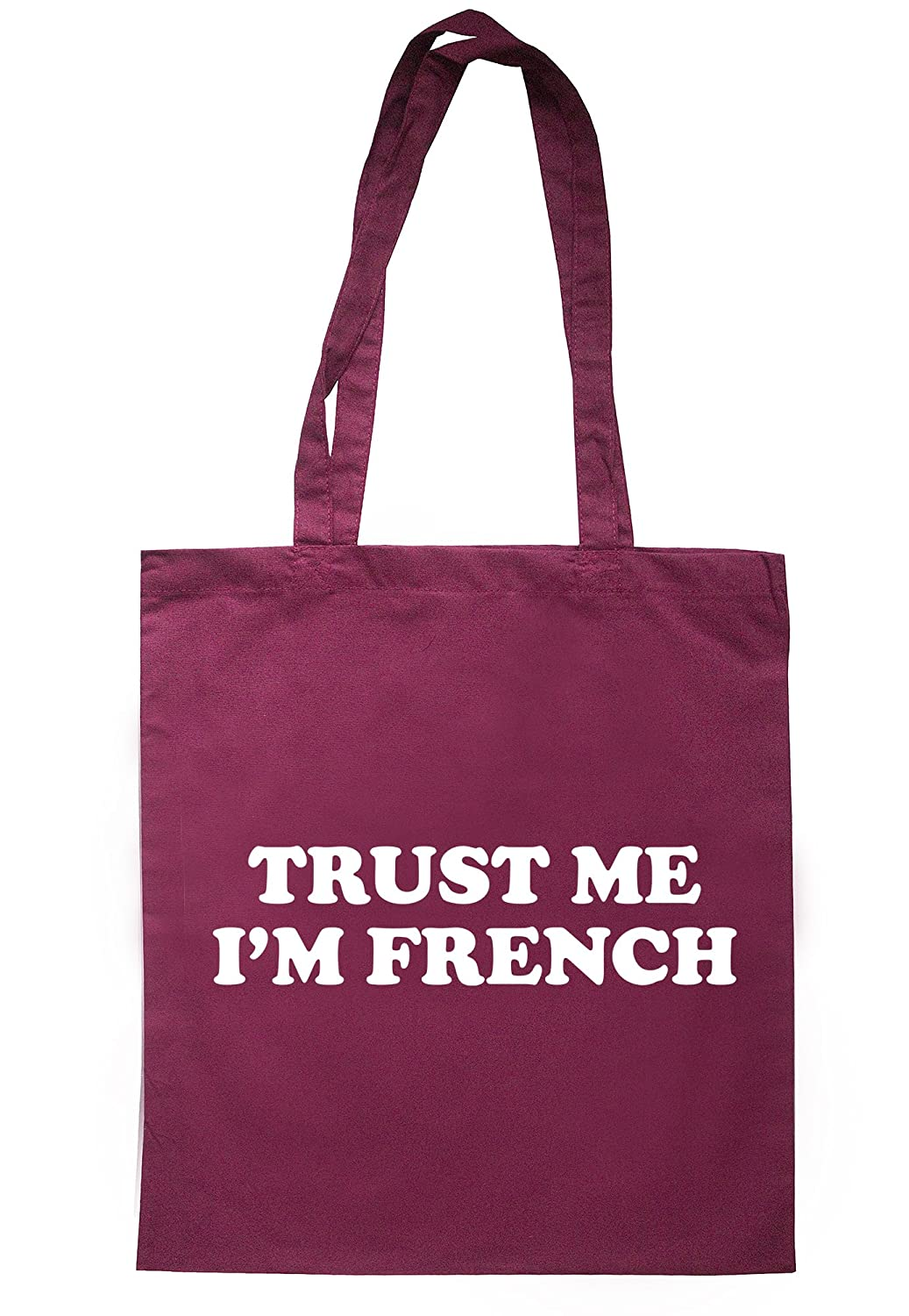 illustratedidentity Trust Me I'm French Tote Bag 37.5cm x 42cm with long handles TB1799-TB-NV