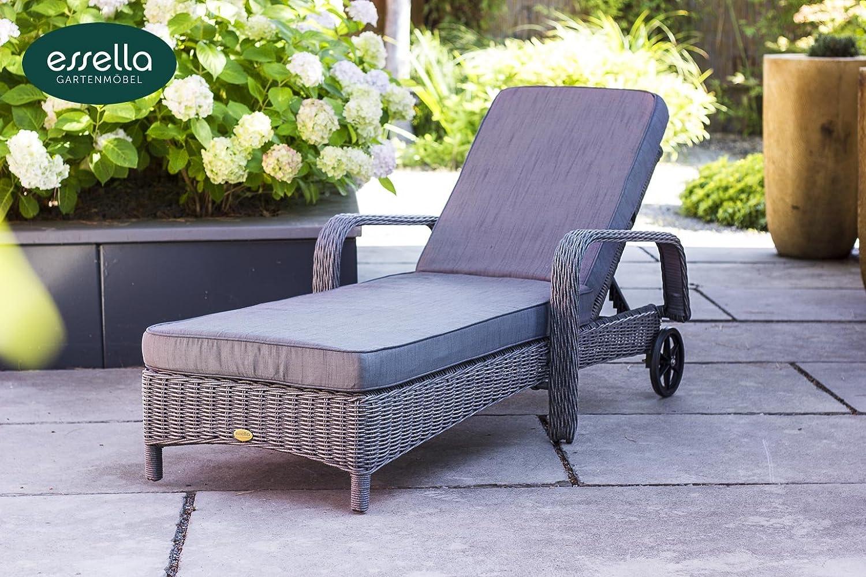 Uberlegen Perfect Polyrattan Sonnenliege Barbados Graumeliert Gartenmbel With  Sonnenliege Rattan Grau