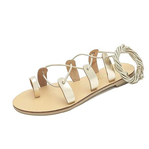 013322ab00 Schmick Helena Sandali Gladiatore Donna: Scarpe Estive Bassi Sandali  Eleganti con Lacci: Amazon.it: Scarpe e borse