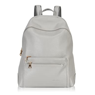 79d7bfa603 Hynes Victory Faux Leather Backpack for Women Dressy Campus Backpack Purse  Grey