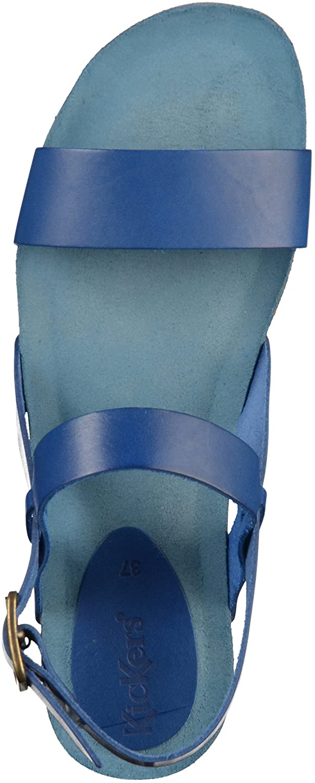 Kickers (Bleu Damen Picweek Offene Sandalen Blau (Bleu Kickers Marine) 4cd187