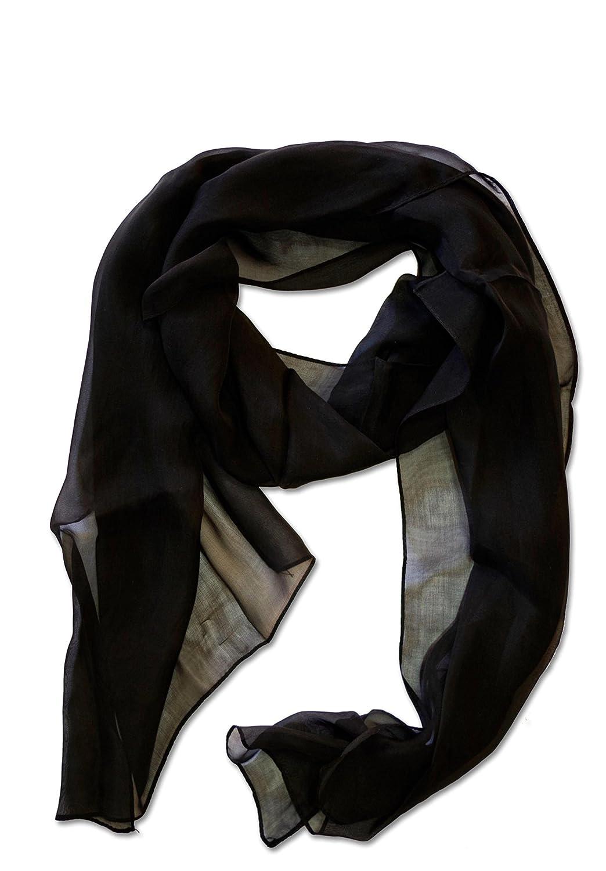Posh Gear Donna sciarpa di seta Chiffon Scialle 100/% Seta