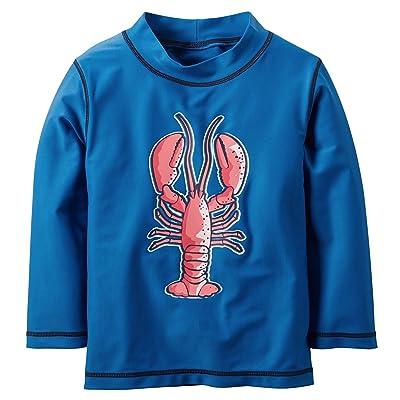 Carter's Boy's Blue L/S Lobster Rashguard