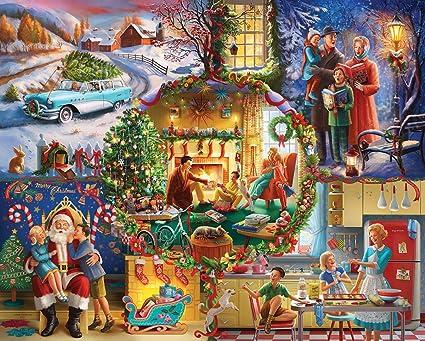 Christmas Jigsaw Puzzles.White Mountain Puzzles Christmas Traditions 1000 Piece Jigsaw Puzzle