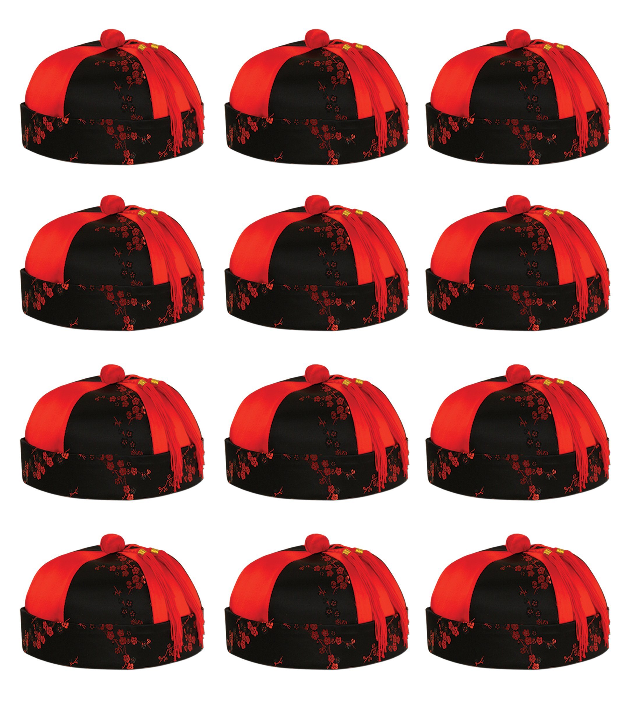 Beistle Mandarin Hat 1 Pack- 12 Pcs/Pack