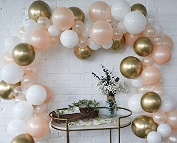Amazon.com: Juego de 100 guirnaldas de globos con perlas ...