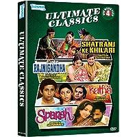 Ultimate Classics - 4 DVD Movie Value Pack (Shatranj Ke Khiladi/Rajnigandha/Katha/Sparsh)