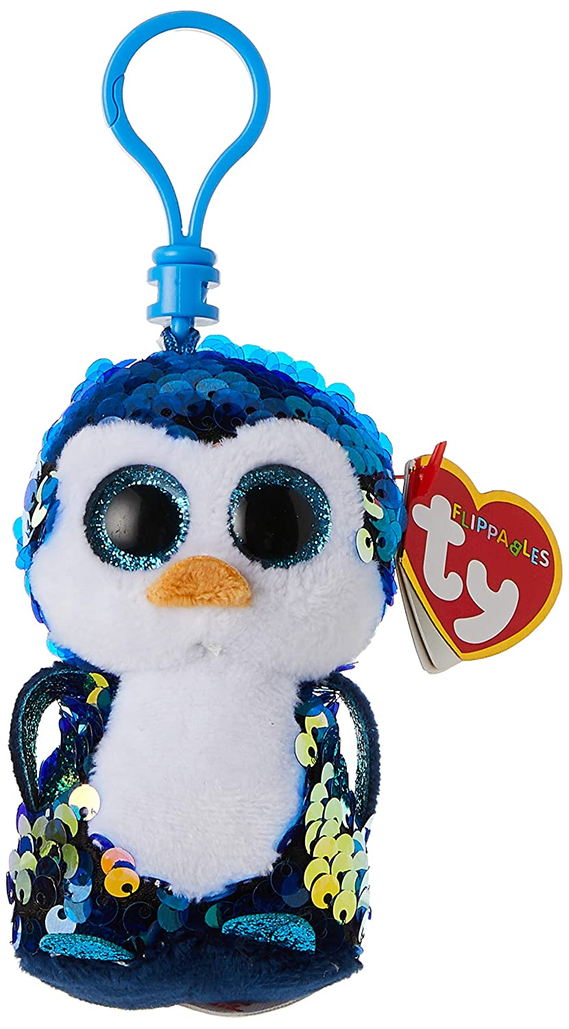 "6/"" Doll Penguin Payton Ty Beanie Boos Flippables Sequin Colorful blue plush Gift"