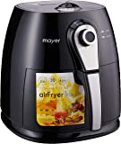 MAYER Air Fryer (MMAF88) Black With Silver, 3.5L