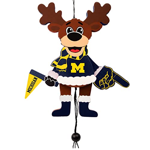 Forever Collectibles Michigan Wolverines Official NCAA Holiday Christmas  Ornament Cheering Reindeer by 498544 - Michigan Christmas Ornaments: Amazon.com