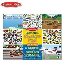 Melissa & Doug Reusable Sticker Pad: Vehicles - 165+ Reusable Stickers