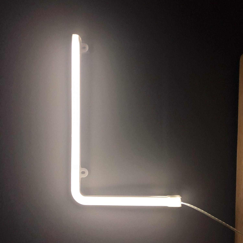 Brief G Wandbehang batteriebetrieben Smiling Faces UK Neon LED wei/ße Buchstaben Licht Zeichen