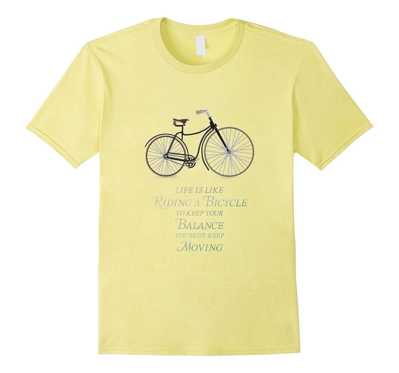 cycle retro old vintage like bicycle bike sport fun T-shirt-FL