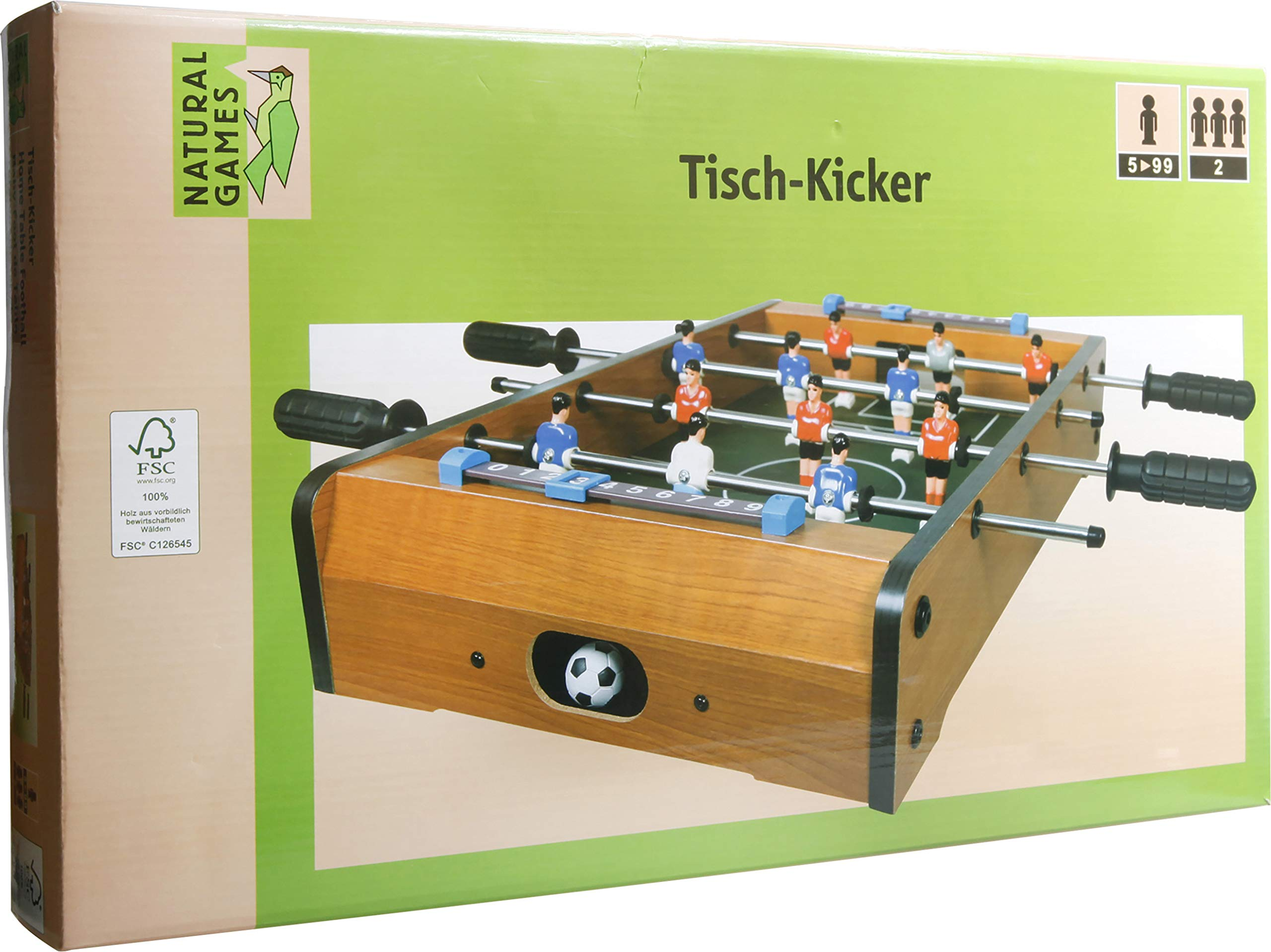 VEDES Großhandel GmbH - Ware Natural Games Football Table 50 x 50 x 9.5 cm