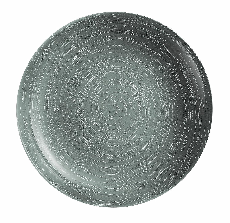 Luminarc Armadis - Set di piattini da dolce, serie Stone Mania, 6 pz, colore grigio 9203547