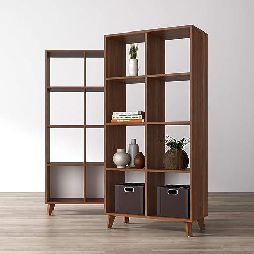 Best modern bookcase: HON Basyx Commercial-Grade High Modern Cube Bookcase