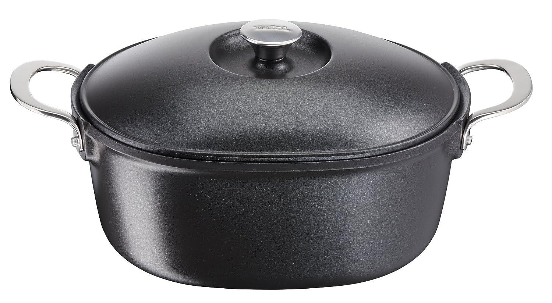e2156974 アロマ IH6 3L 鋳鉄製キャセロール皿 ブラック   B07DG6CMHR