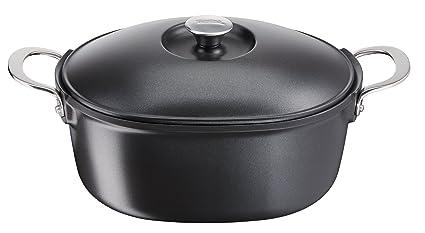 Tefal e2156974 aroma fundido Inducción 6,3l cacerola, negro ...