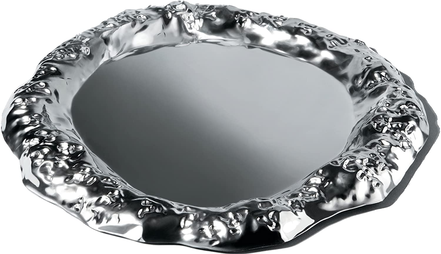 AlessiFingernails work Tray in 18//10 Stainless Steel Mirror Polished Silver SCH01