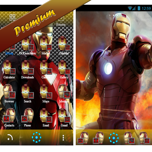 Iron Man Go Launcher theme: Amazon ca: Appstore for Android