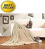 Celine Linen® #1 Fleece Blanket on Amazon - Super Soft - SALE - All Season Super Plush Luxury FLEECE BLANKET, Full/Queen Cream