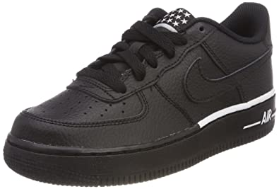 sports shoes 4cc26 63ea0 Nike Jungen Air Force 1 (GS) Sneaker Schwarz BlackWhite 036, 38