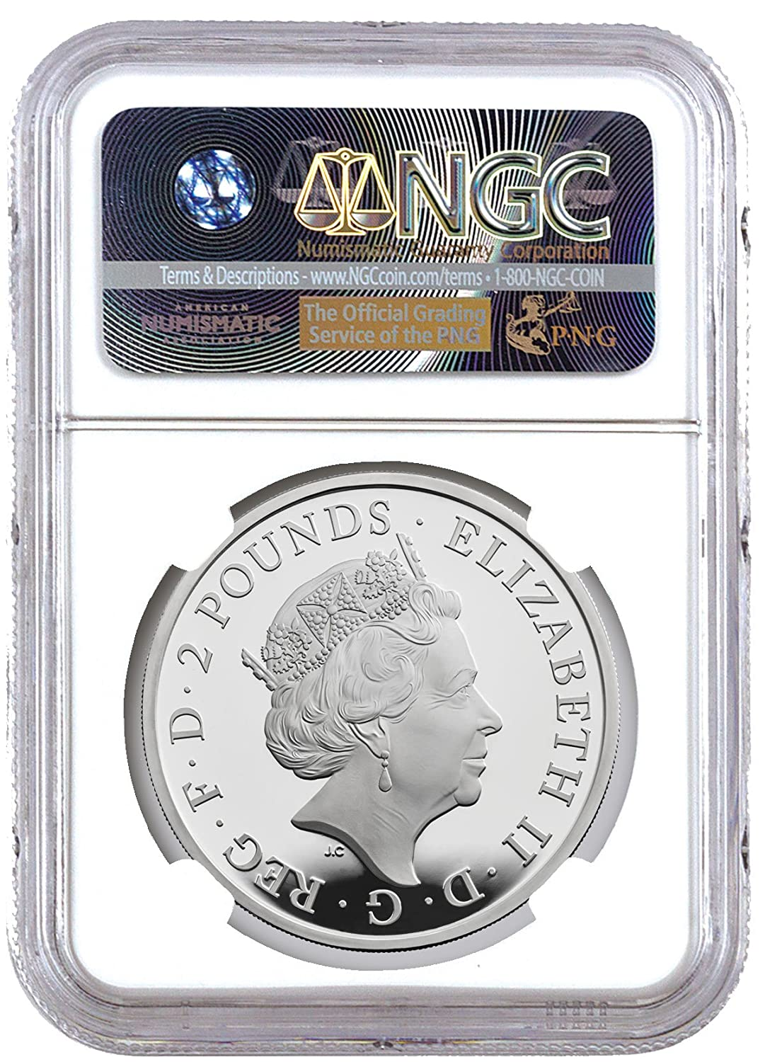 2018 Proof Great Britain Silver £2 Queens Beasts Black Bull of Clarence NGC PF69