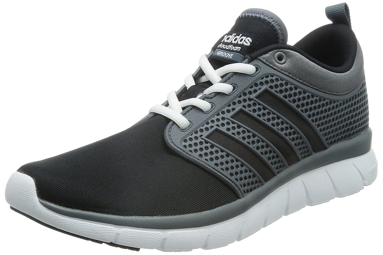 Comfortable Adidas Mens Cloudfoam Groove Black Walking Shoes
