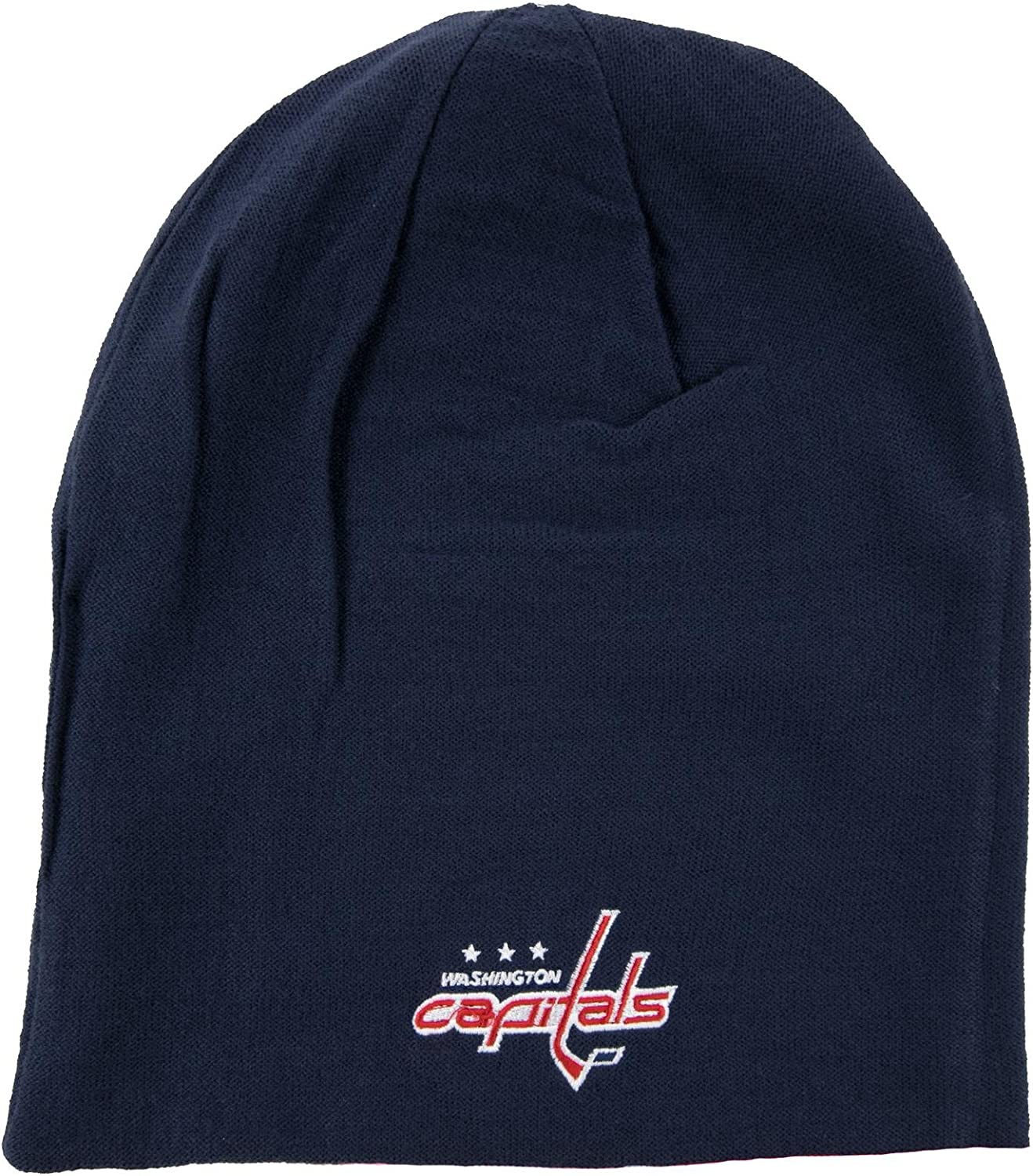 Reebok Washington Capitals Faceoff Long Reversible Knit Hat One Size Fits All