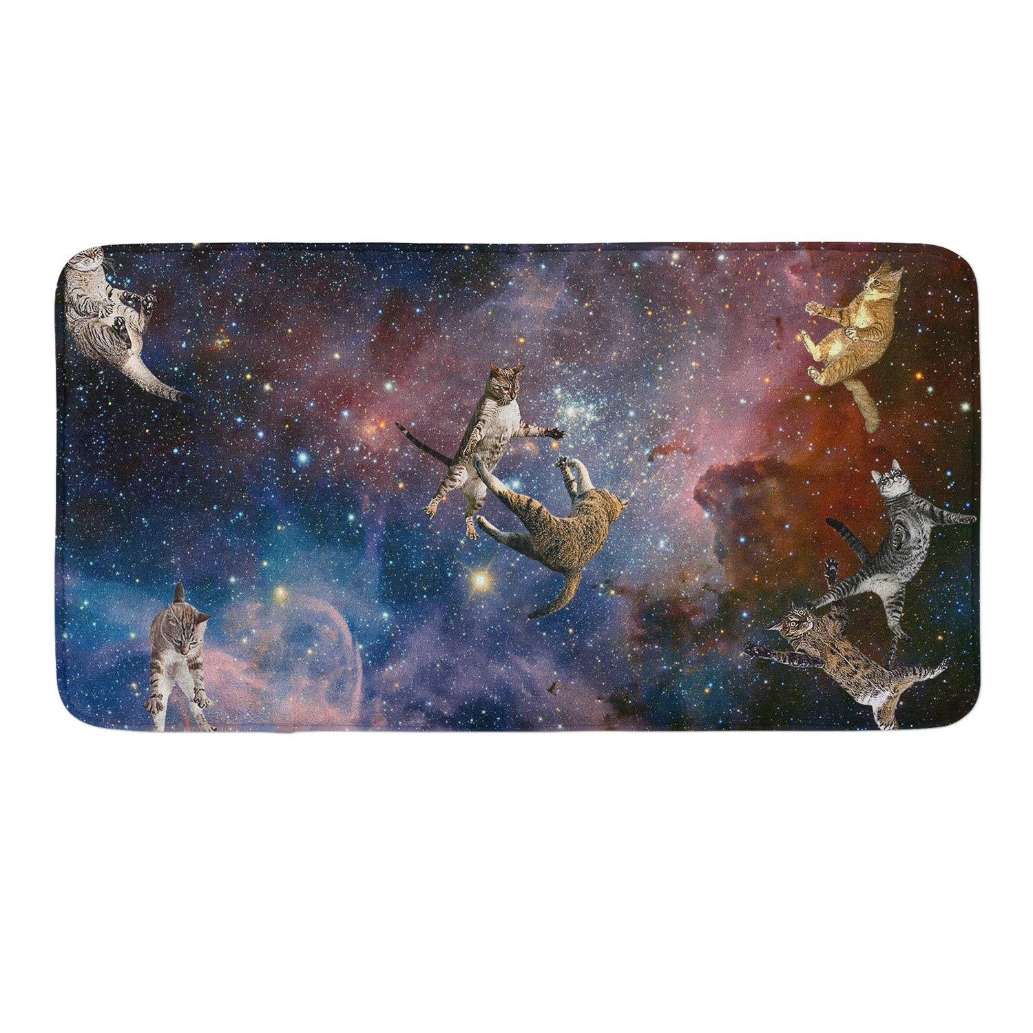 Anti-Slip Memory Foam Bath Mat Shower Rugs - Star Wars Cats - 18 x 36 Inch Absorbent Quick-Dry Floor Mat Carpets Home Decor Bathroom Tub Kichen Rugs