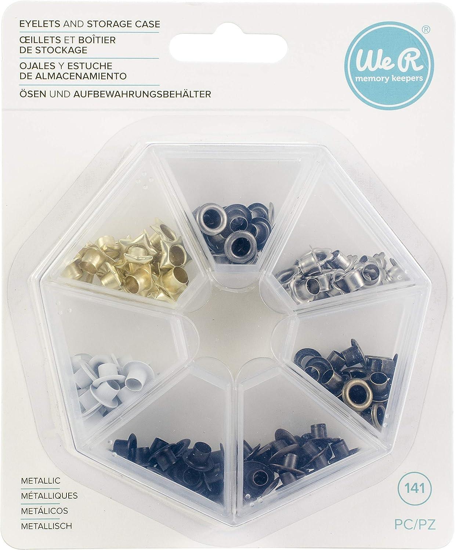 We R Memory Keepers Metallic We R Eyelets - Estuche de almacenamiento para 140 lápices metálicos, plateado: Amazon.es: Hogar