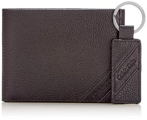 Calvin Klein - Pebble Giftbox, Carteras Hombre, Negro (Black), 12.8x19x2.9 cm (B x HT)