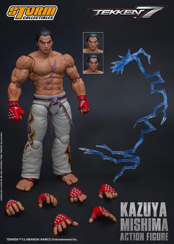 Amazon Com Storm Collectibles Tekken 7 Kazuya Mishima 1 12 Scale Action Figure Toys Games