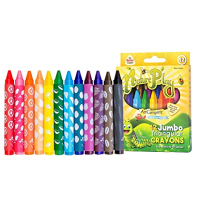 NaturePlay Jumbo Triangular Crayons 12 Count: Office Products